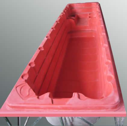 molde necessário para construir a piscina de fibra